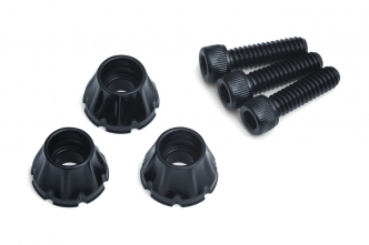 Kuryakyn Decorative Windshield Screws In Gloss Black Finish For Harley Davidson 1996-2013 Electra Glides, Street Glides & Trikes (5718)