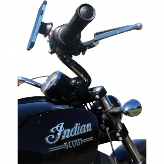 Klock Werks Right Device Mount IOMOUNTS in Black Finish For 2015-2017 Indian Scout Models (KW05-01-0409-RB)
