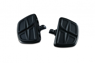 Kuryakyn Kinetic Mini Boards With Male Mount Adapters In Gloss Black Finish (7612)