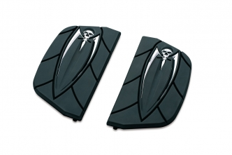 Kuryakyn Zombie Inserts For Harley Davidson D-Shaped Passenger Boards In Black (4572)