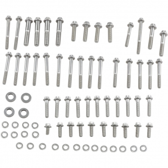 Feuling 12 Point Engine Fastener Kit in Stainless Steel For 1999-2005 Dyna Models (3054)