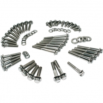 Feuling 12 Point Engine Fastener Kit in Stainless Steel For 2000-2006 Touring Models (3056)