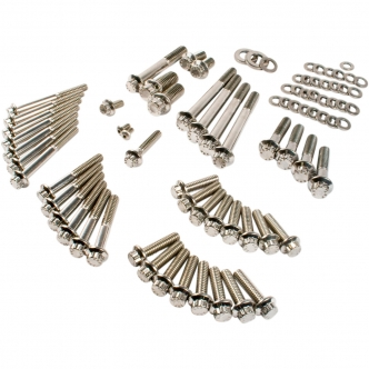 Feuling 12 Point Engine Fastener Kit in Stainless Steel For 2004-2017 XL Models (3060)
