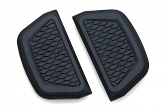 Kuryakyn Hex Passenger Board Inserts In Satin Black Finish (5903)