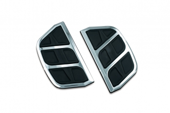 Kuryakyn Kinetic Inserts For Harley Davidson Shaped Passenger Boards In Chrome Finish (4398)