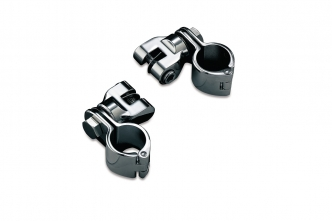 Kuryakyn Peg Mounts With 1-1/2 Inch Magnum Quick Clamps In Chrome Finish (4573)