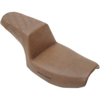 Saddlemen Step-Up Rear LS 2-Up Seat in Brown Finish For 1982-2000 FXR Models (882-09-173BR)