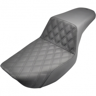 Saddlemen Step-Up Front LS 2-Up Seat in Black Finish For 1982-2000 FXR Models (882-09-172)