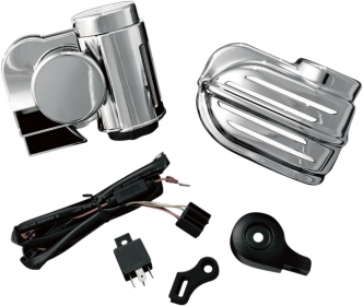 Kuryakyn Super Deluxe Wolo Bad Boy Air Horn Kit In Chrome Finish For Universal Fitment (7290)
