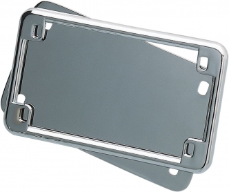 Kuryakyn License Frame & Back Plate Set In Chrome Finish (9166)