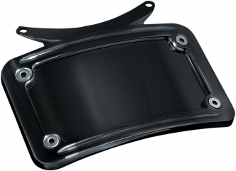 Kuryakyn Curved License Plate Frame In Gloss Black Finish For Kuryakyn Bullet Light Rear Turn Signal Bars (3143)