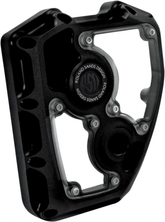 Roland Sands Design Clarity Cam Cover in Black Ops Finish For 2001-2017 Softail, Dyna (Excluding 2014-2017 FXDLS) S&S T-Series Engines (0177-2003-SMB)