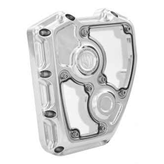 Roland Sands Design Clarity Cam Cover in Chrome Finish For 2001-2017 Softail, Dyna (Excluding 2014-2017 FXDLS), S&S T-Series Engine Models (0177-2003-CH)