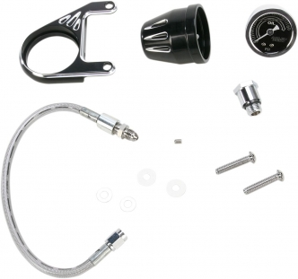 Arlen Ness Oil Pressure Gauge Kit Deep Cut In Black Finish For S&S Evo Engines (15-670)