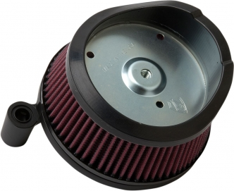 Arlen Ness Big Sucker Air Cleaner Kit With Black Backing Plate For Harley Davidson 2014-2016 FLT & 2015-2017 Softail Models (18-442)