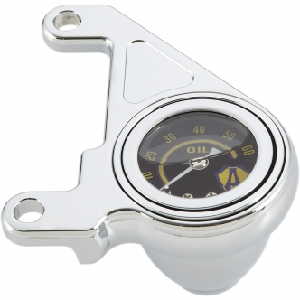 Arlen Ness Oil Pressure Gauge Kit Radius In Chrome Finish For 1999-2017 Twin Cam (15-658)