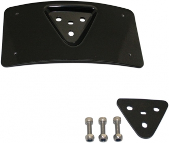 Custom Dynamics Radius Laydown License Plate Frame Mount In Black Finish (CD-PFM-B)