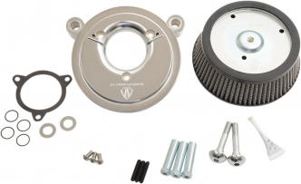 Arlen Ness Big Sucker Stage 1 Air Cleaner Kit With Chrome Backing Plate & Synthetic Filter For Harley Davidson 2008-2016 FLT, 2016-2017 FLST & FXDLS (50-514)