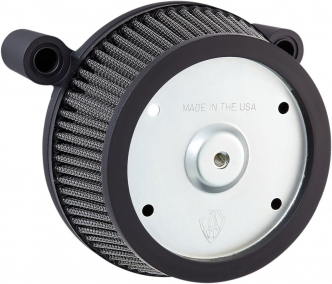 Arlen Ness Big Sucker Stage 1 Air Cleaner Kit With Black Backing Plate & Synthetic Filter For Harley Davidson 2008-2016 FLT, 2016-2017 FLST & FXDLS (50-570)
