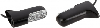 Arlen Ness Turn Signal Direct Bolt On in Black Finish With Red Light For 2000-2017 FXD & 2000-2020 XL/FXST Models (12-741)