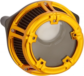 Arlen Ness Method Air Cleaner Kit in Gold Finish For 2001-2015 Softail, 2004-2017 Dyna (Excluding 2017 FXDLS), 2002-2007 FLT/Touring Models (18-177)