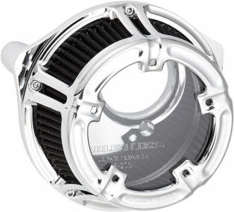 Arlen Ness Method Air Cleaner In Chrome Finish For Harley Davidson 2000-2017 Dyna, Softail & Touring Models (Excl. E-Throttle) (18-972)