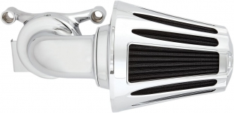 Arlen Ness Deep Cut Monster Sucker Air Cleaner In Chrome Finish For Harley Davidson 2000-2017 Dyna, Softail & Touring Models (Excl. E-Throttle) (81-024)