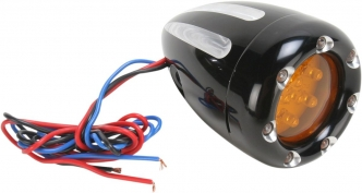 Arlen Ness Dual Filament Deep Cut With Fire Ring Turn Signals in Black Finish (12-765)