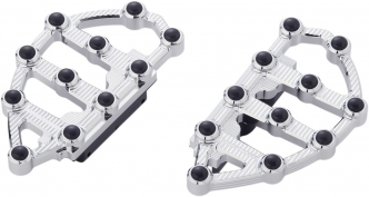 Arlen Ness-MX Passenger Floorboards In Chrome For Harley Davidson 1984-2020 Touring Models (06-895)