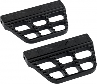 Joker Machine Serrated Passenger Floorboards In Black Finish For Harley Davidson 2006-Up Dyna, 2000-Up Softail & 1986-Up Touring Models (08-645-1B)