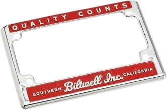 Biltwell USA License Plate Frame Red/Cream (LP-ZIN-DC-QC)