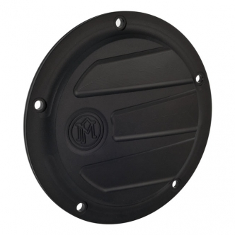 Performance Machine Scallop 5 Hole Derby Cover in Black Ops Finish For 1999-2017 Dyna, 1999-2018 Softail (Excluding FLSB), 1999-2015 Touring, Trike (Excluding 2015 FLHTCUL, FLHTKL) Models (0177-2026-SMB)