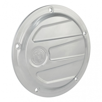 Performance Machine Scallop 5 Hole Derby Cover in Chrome Finish For 1999-2017 Dyna, 1999-2018 Softail (Excluding FLSB), 1999-2015 Touring, Trike (Excluding 2015 FLHTCUL, FLHTKL) Models (0177-2026-CH)