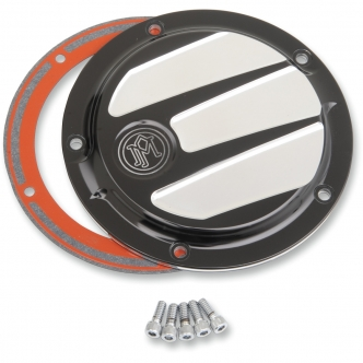 Performance Machine Scallop 5 Hole Derby Cover in Contrast Cut Finish Platinum Cut For 1999-2017 Dyna, 1999-2018 Softail (Excluding FLSB), 1999-2015 Touring, Trike (Excluding 2015 FLHTCUL, FLHTKL) Models (0177-2026-BMP)