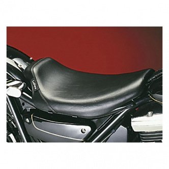 Le Pera Bare Bones Smooth Foam Solo Seat 10.5 Inch Wide in Black Finish For 1982-1994 FXR Models (L-008)