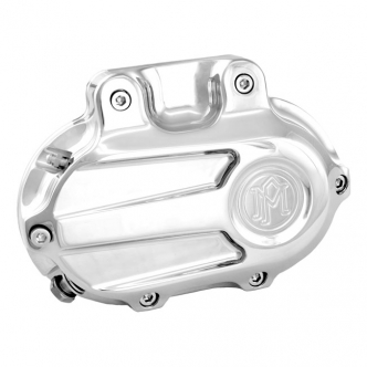 Performance Machine Scallop 5 Speed Hydraulic Clutch Transmission End Cover in Chrome Finish For 1987-2006 Softail, 1987-2006 FLT, 1991-2005 Dyna Models (0066-2029-CH)