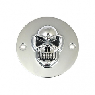 DOSS 5-Hole Skull Point Cover in Chrome Finish For 1999-2017 Twin Cam Models (ARM955005)
