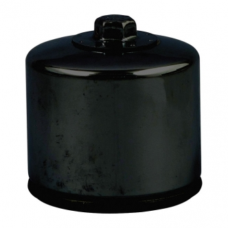 DOSS Spin-On Oil Filter With Magnetic Top Nut in Black Finish For 1980-Early 1984 XL Sportster, Late 1982-1984 FL, FX (Short) Models (ARM735805)